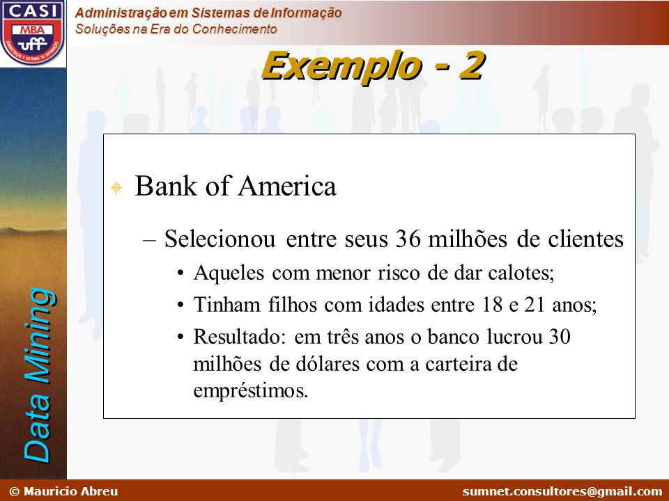 Exemplo - 2 Data Mining Bank of America