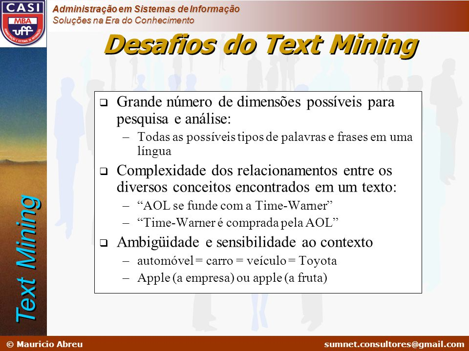 Desafios do Text Mining