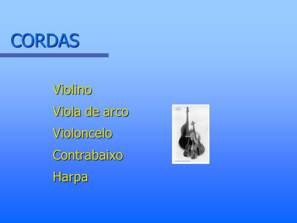 CORDAS Violino Viola de arco Violoncelo Contrabaixo Harpa