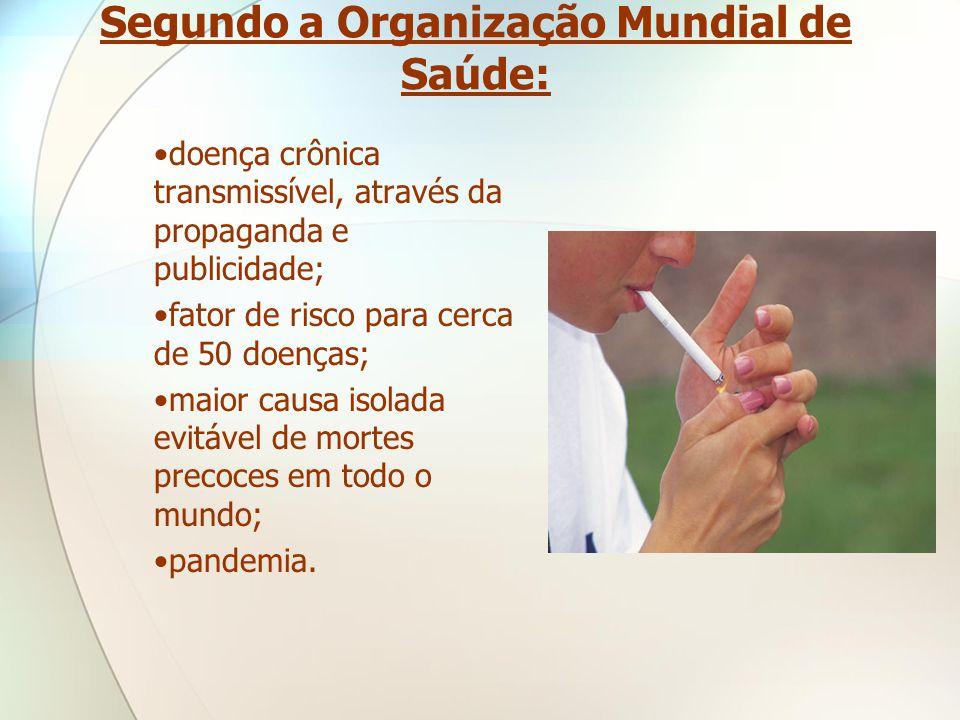 Segundo a Organização Mundial de Saúde: