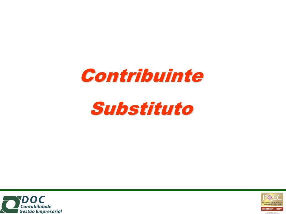 Contribuinte Substituto