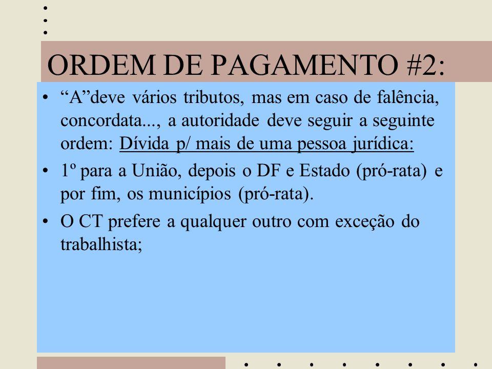 ORDEM DE PAGAMENTO #2: