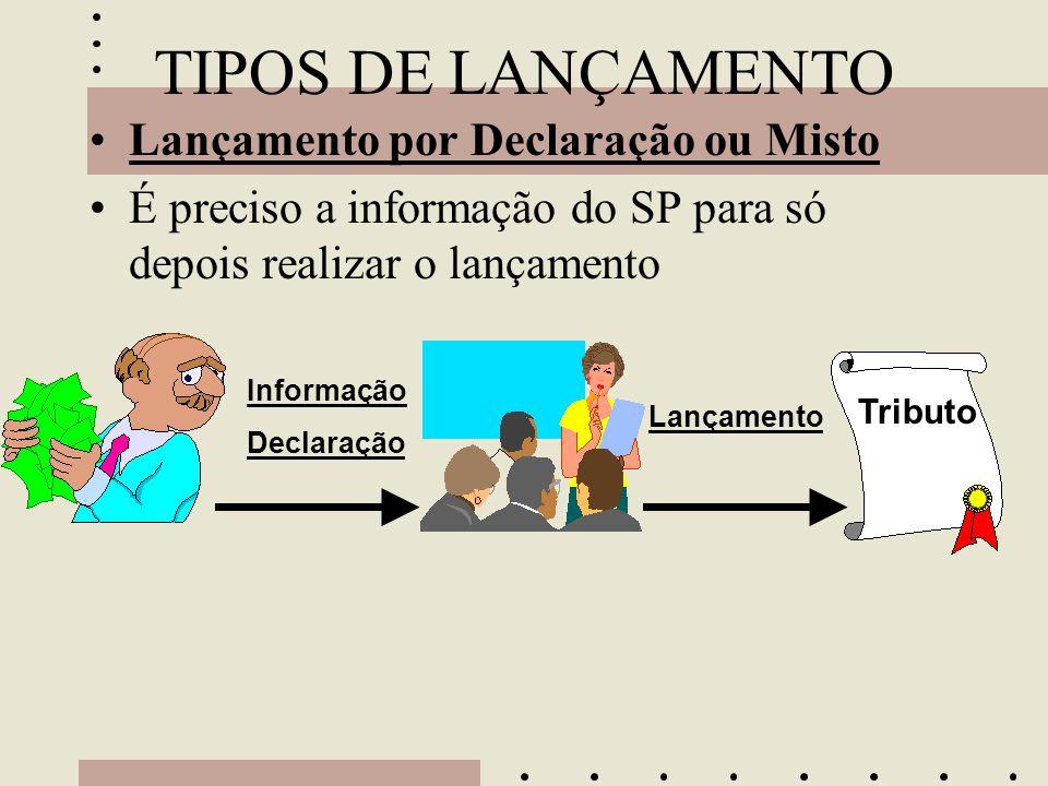TIPOS DE LANÇAMENTO Lançamento por Declaração ou Misto
