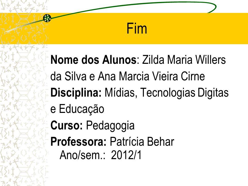 Fim Nome dos Alunos: Zilda Maria Willers
