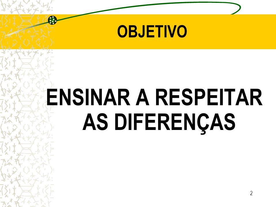 ENSINAR A RESPEITAR AS DIFERENÇAS