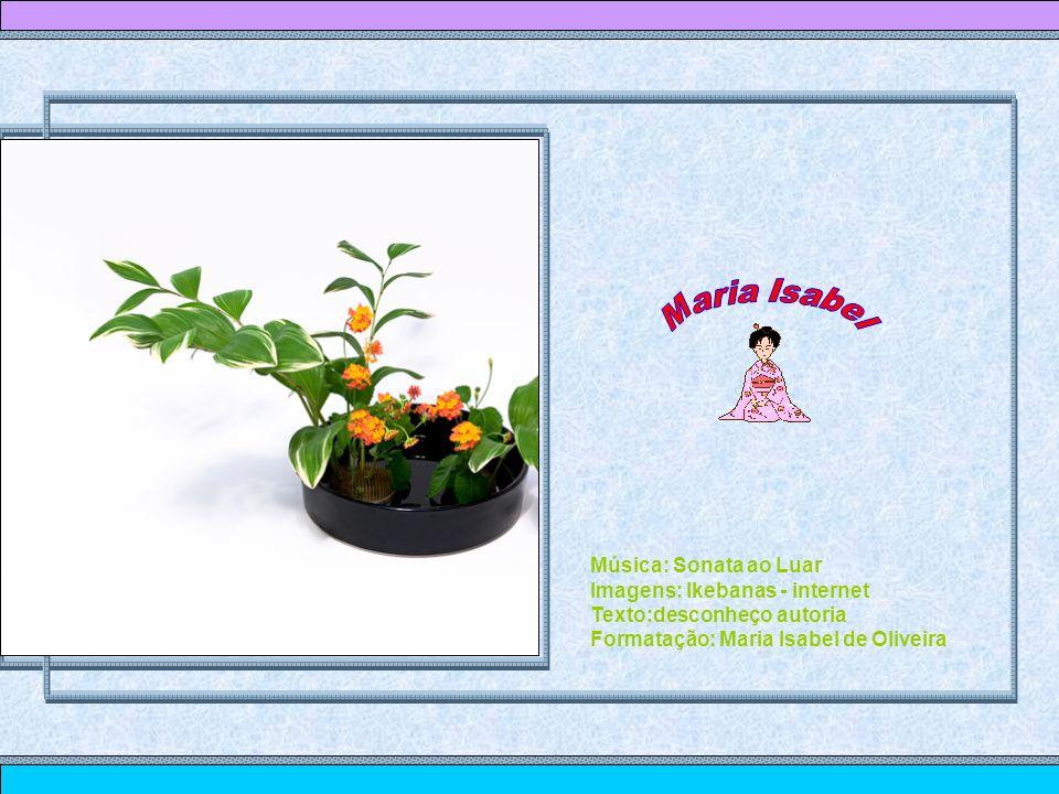 Maria Isabel Música: Sonata ao Luar Imagens: Ikebanas - internet