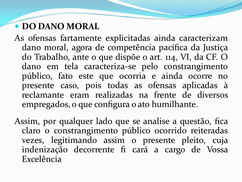 DO DANO MORAL