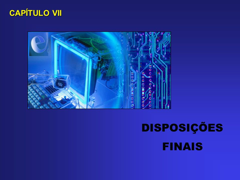 CAPÍTULO VII DISPOSIÇÕES FINAIS