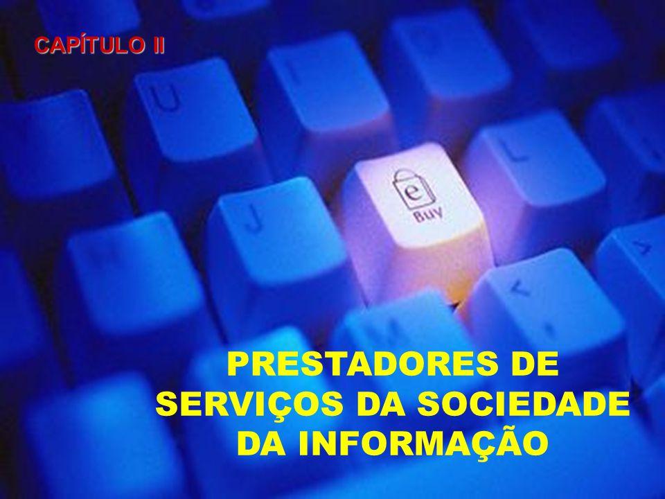 PRESTADORES DE SERVIÇOS DA SOCIEDADE DA INFORMAÇÃO