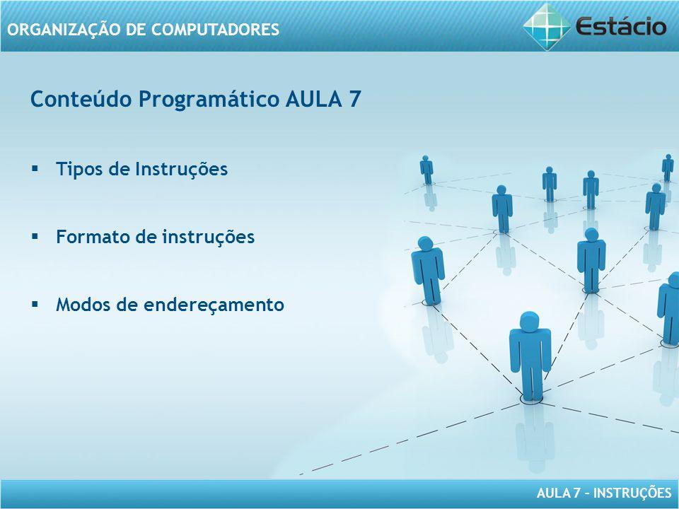 Conteúdo Programático AULA 7