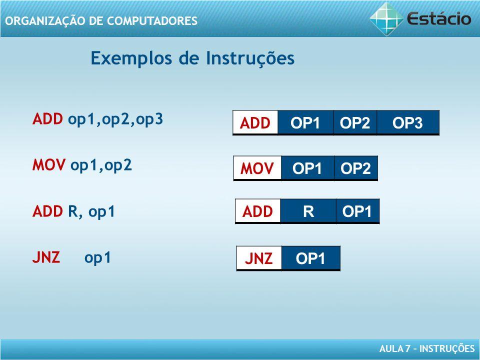 Exemplos de Instruções