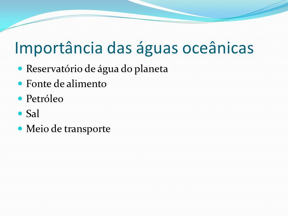 Importância das águas oceânicas