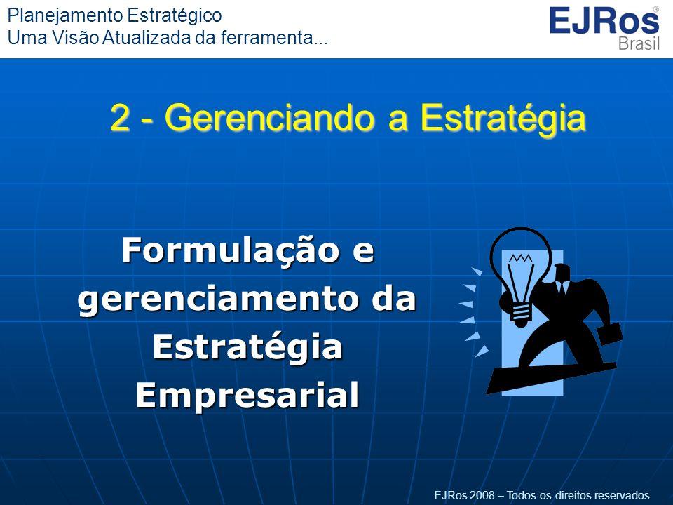 Formulação e gerenciamento da Estratégia Empresarial