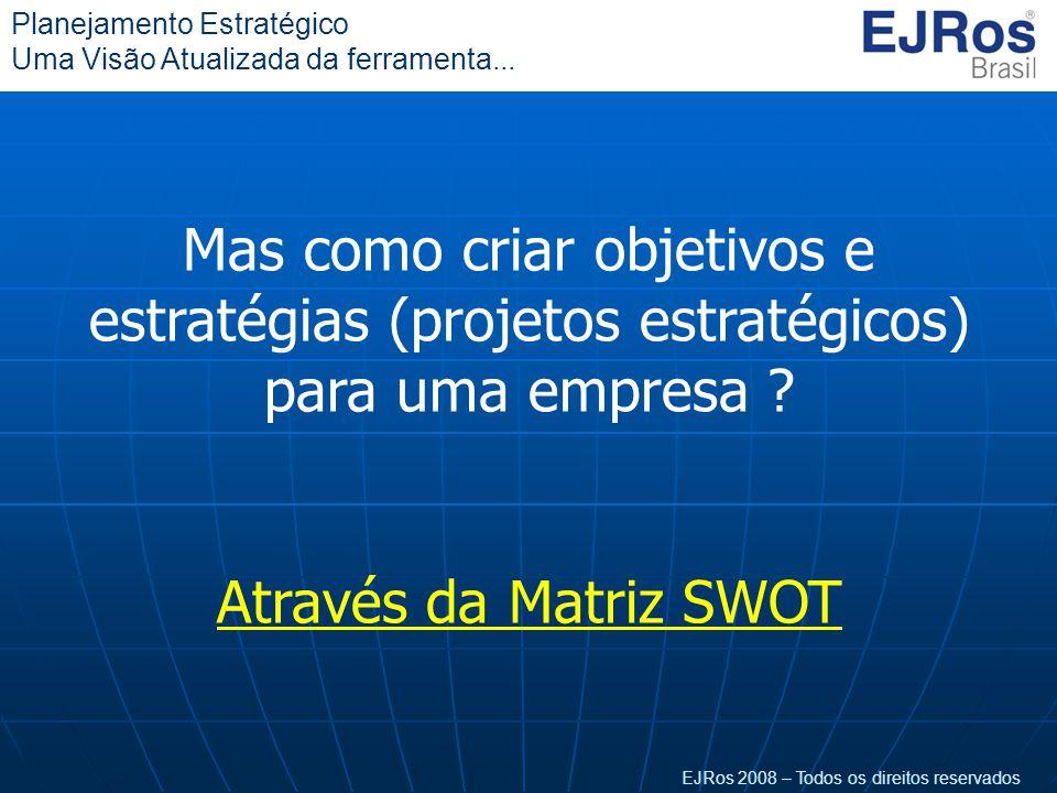 Mas como criar objetivos e estratégias (projetos estratégicos) para uma empresa