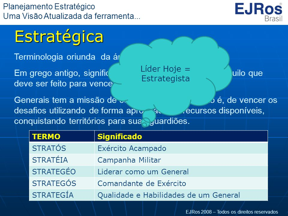 Líder Hoje = Estrategista
