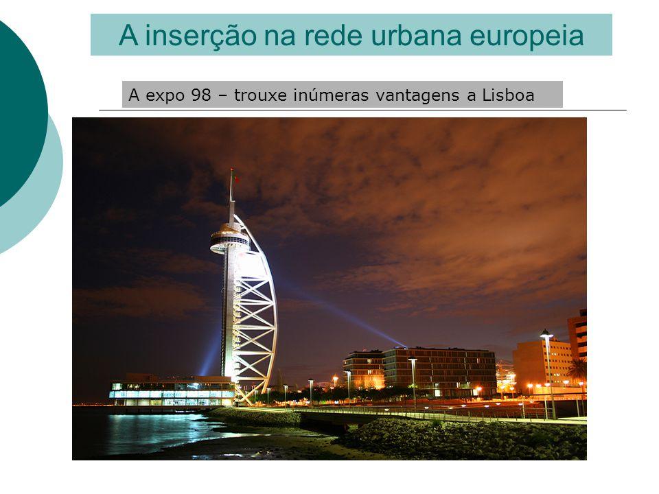A inserção na rede urbana europeia