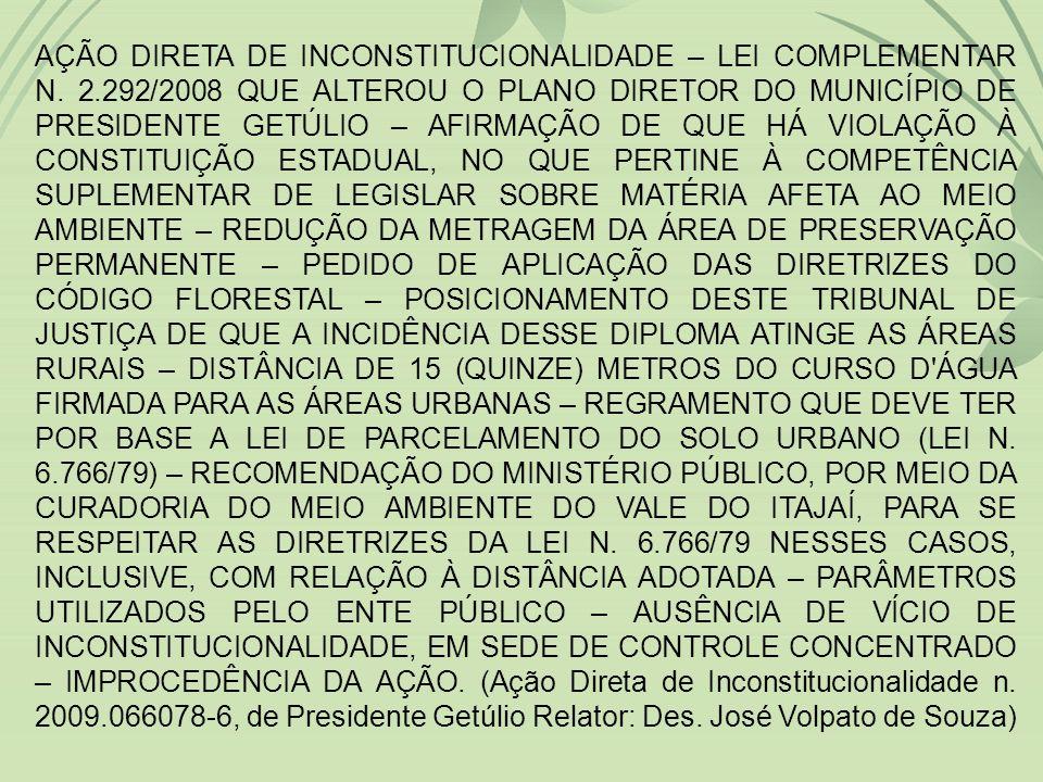 AÇÃO DIRETA DE INCONSTITUCIONALIDADE – LEI COMPLEMENTAR N. 2