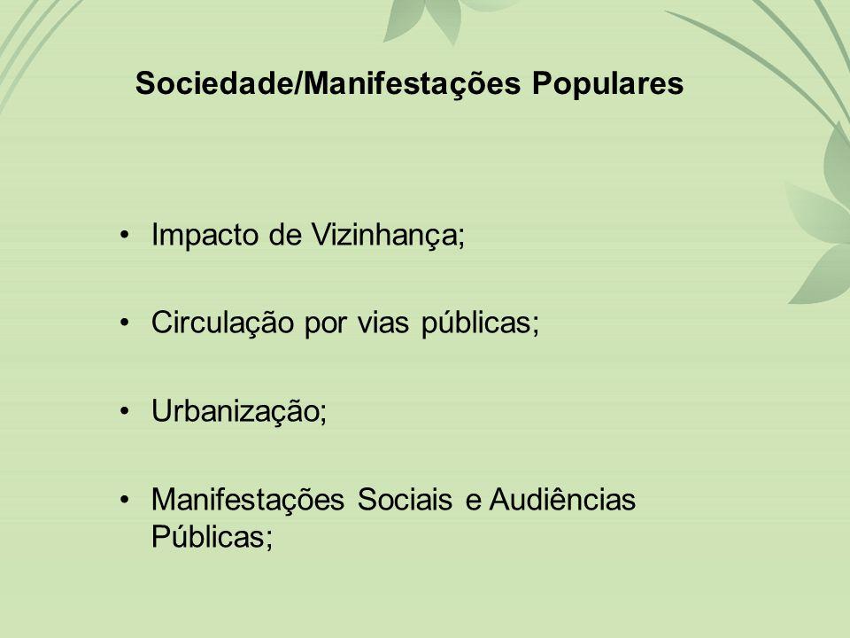 Sociedade/Manifestações Populares