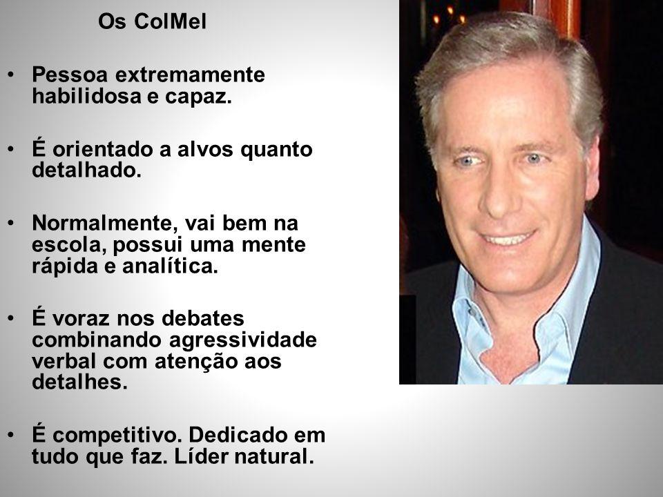Os ColMel Pessoa extremamente habilidosa e capaz. É orientado a alvos quanto detalhado.