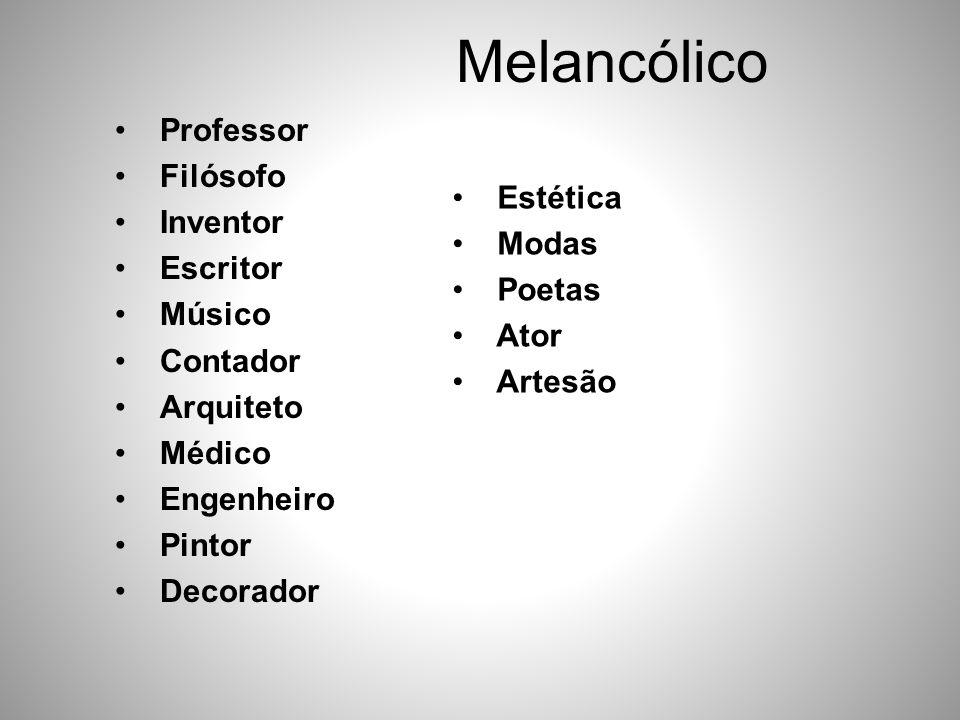 Melancólico Professor Filósofo Inventor Escritor Estética Músico Modas