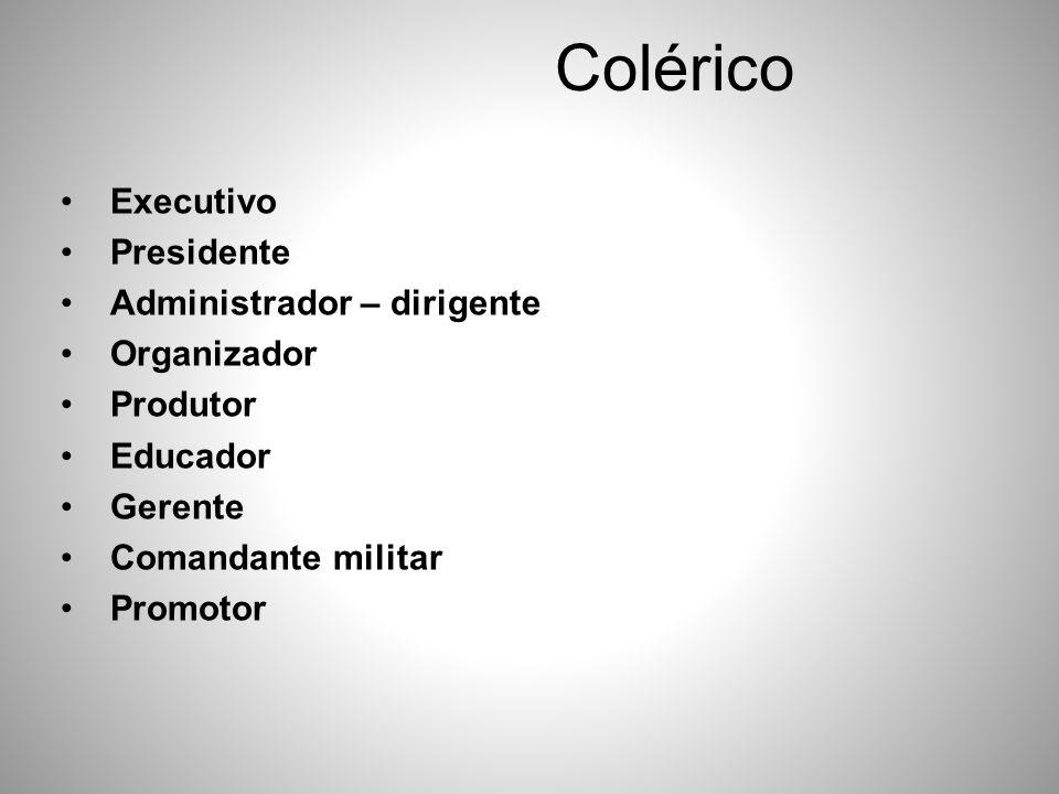 Colérico Executivo Presidente Administrador – dirigente Organizador