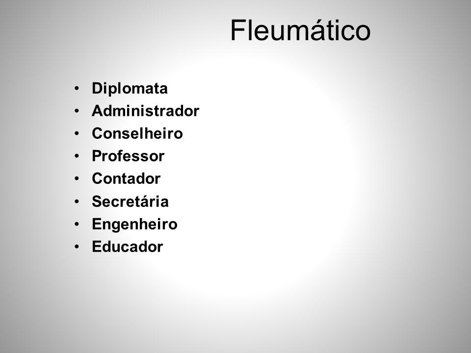 Fleumático Diplomata Administrador Conselheiro Professor Contador