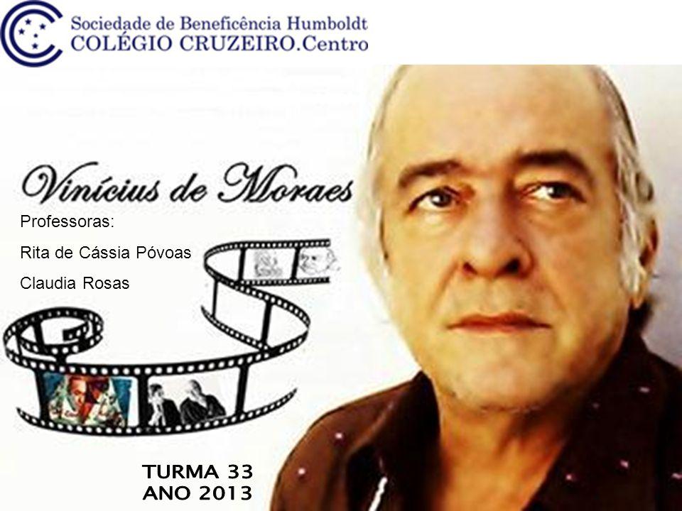 Professoras: Rita de Cássia Póvoas Claudia Rosas TURMA 33 ANO 2013