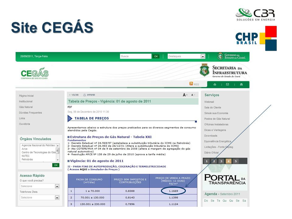 Site CEGÁS