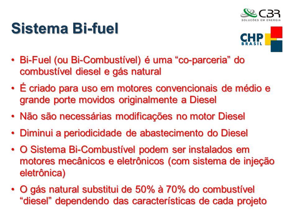 Sistema Bi-fuel Bi-Fuel (ou Bi-Combustível) é uma co-parceria do combustível diesel e gás natural.
