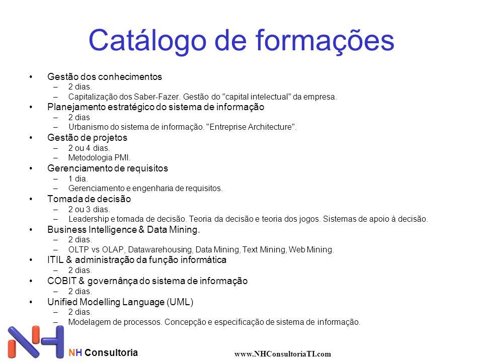 Catálogo de formações Gestão dos conhecimentos