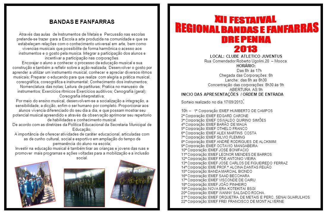 REGIONAL BANDAS E FANFARRAS DRE PENHA 2013