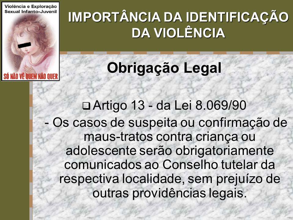 IMPORTÂNCIA DA IDENTIFICAÇÃO DA VIOLÊNCIA