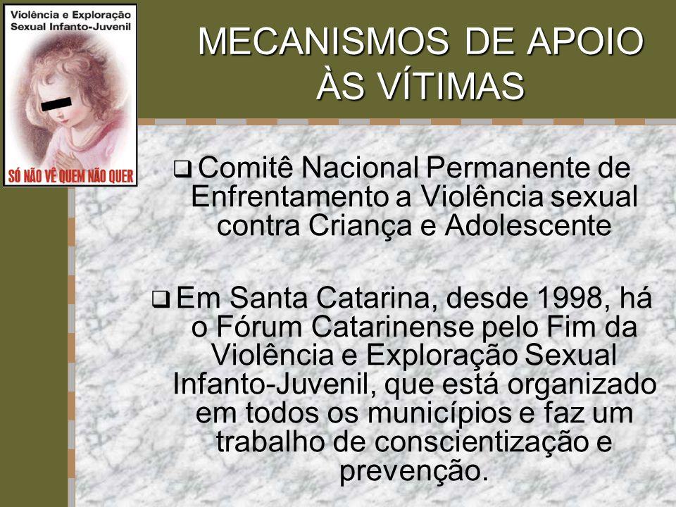MECANISMOS DE APOIO ÀS VÍTIMAS