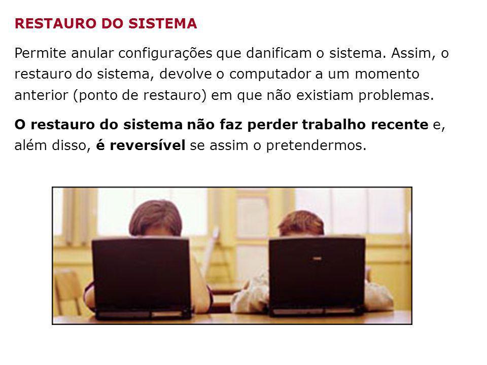 RESTAURO DO SISTEMA