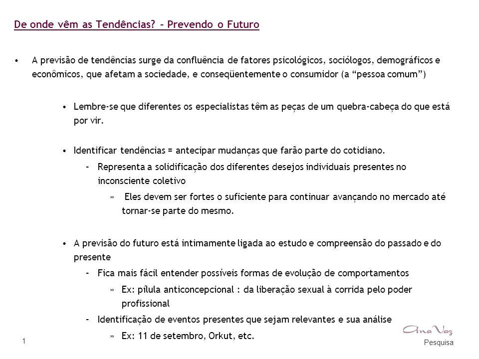 De onde vêm as Tendências – Prevendo o Futuro