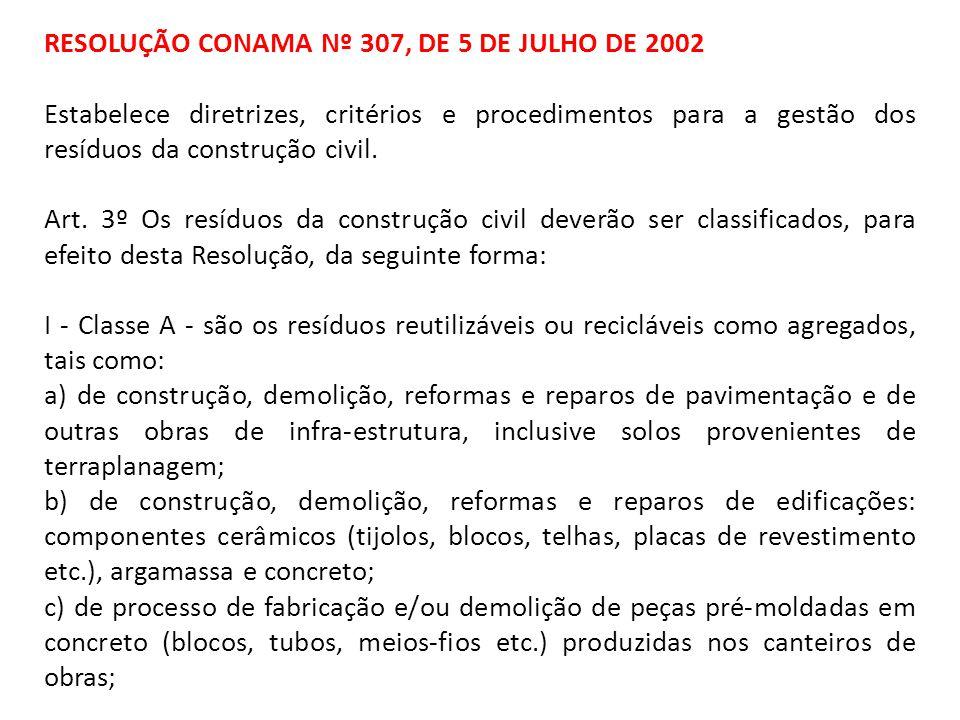 RESOLUÇÃO CONAMA Nº 307, DE 5 DE JULHO DE 2002