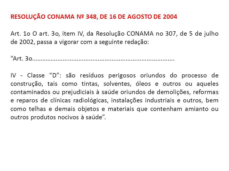 RESOLUÇÃO CONAMA Nº 348, DE 16 DE AGOSTO DE 2004