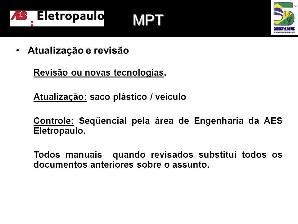 MPT Atualização e revisão Revisão ou novas tecnologias.