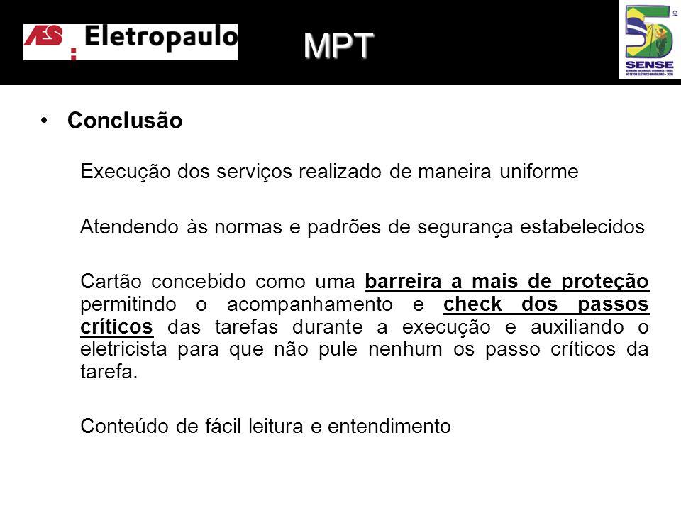 MPT Conclusão Execução dos serviços realizado de maneira uniforme