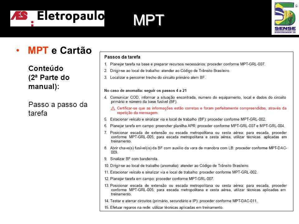 MPT MPT e Cartão Conteúdo (2ª Parte do manual):