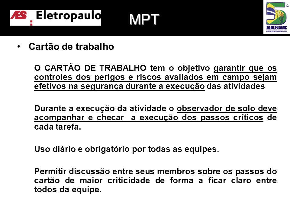 MPT Cartão de trabalho.