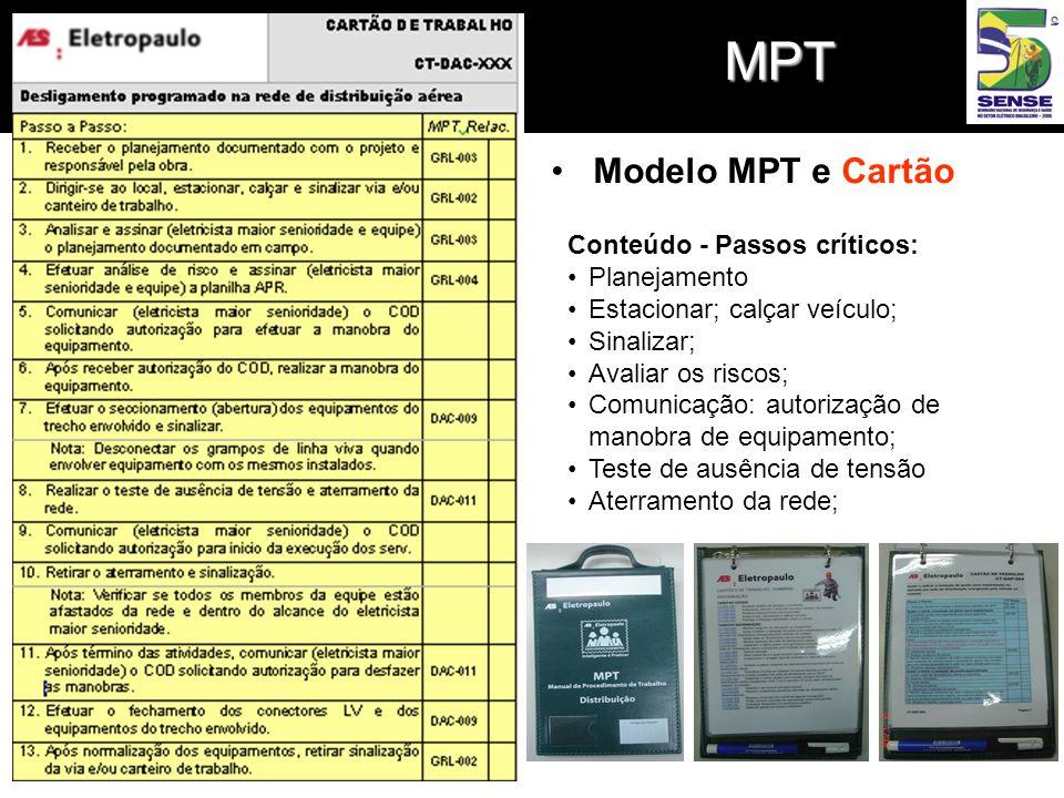 MPT Modelo MPT e Cartão Conteúdo - Passos críticos: Planejamento