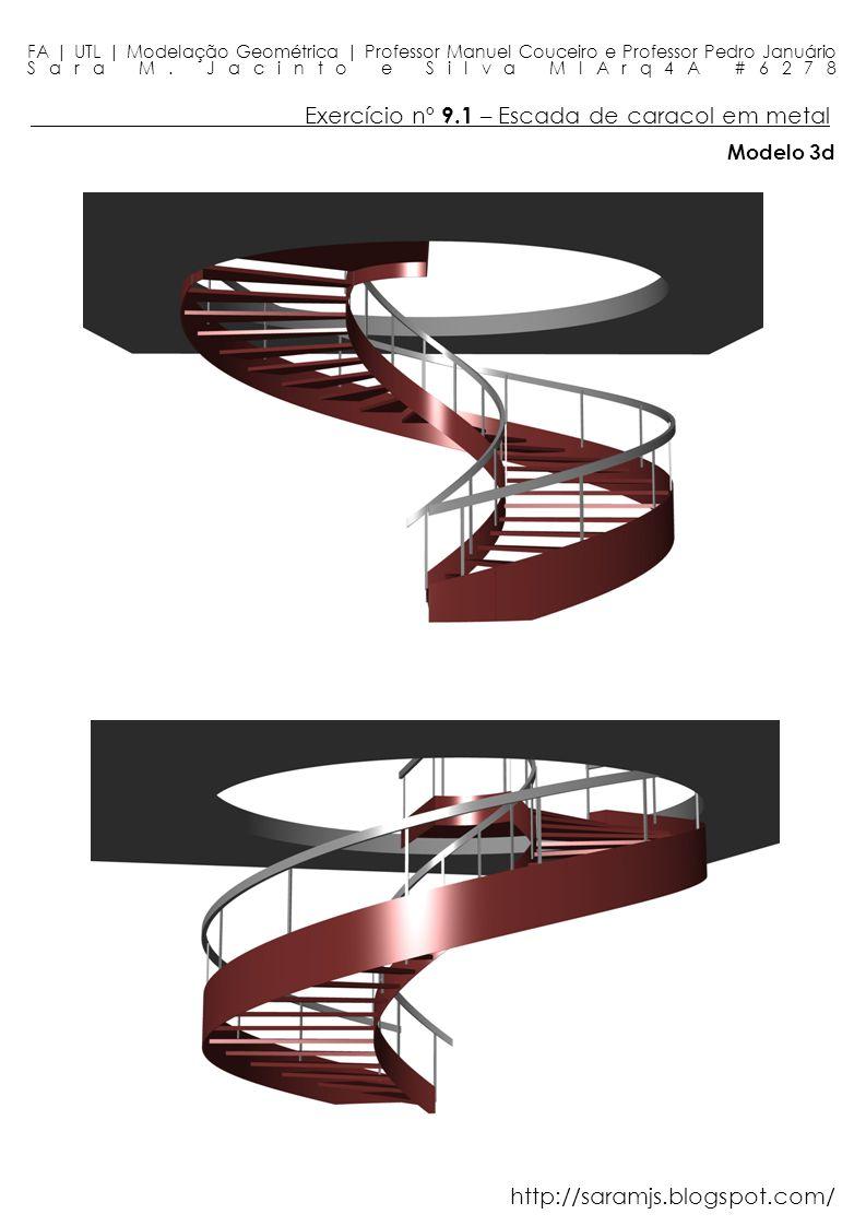 Exercício nº 9.1 – Escada de caracol em metal