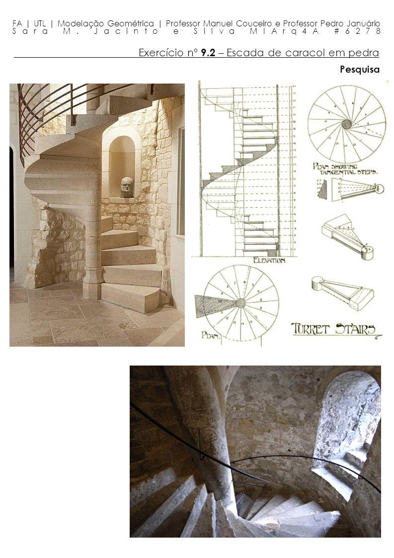 Exercício nº 9.2 – Escada de caracol em pedra