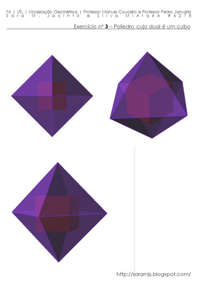 Exercício nº 3 – Poliedro cujo dual é um cubo