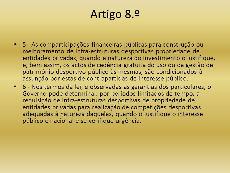 Artigo 8.º