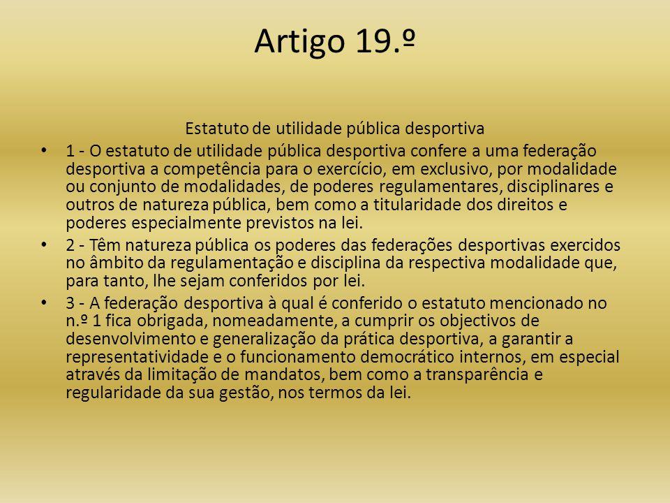 Estatuto de utilidade pública desportiva