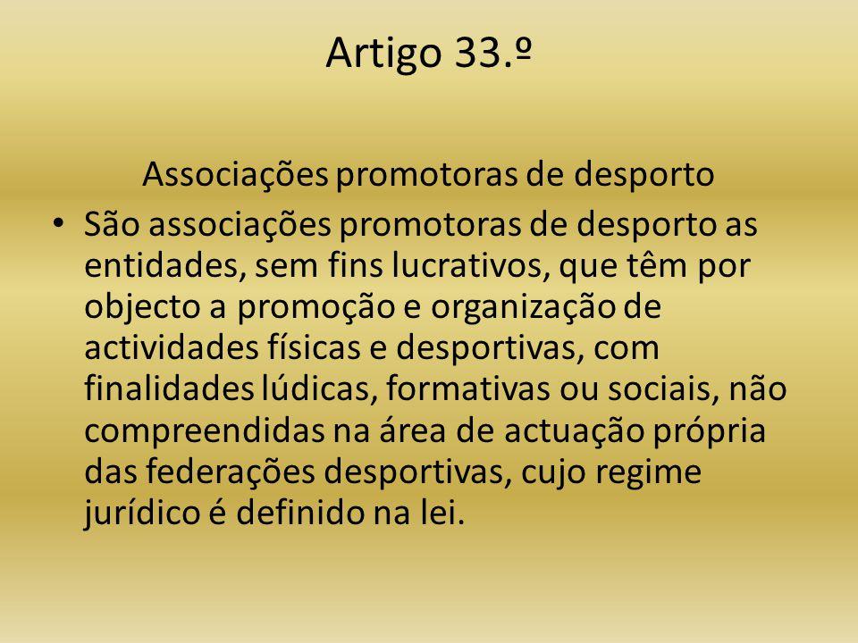 Associações promotoras de desporto