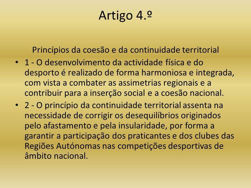 Princípios da coesão e da continuidade territorial