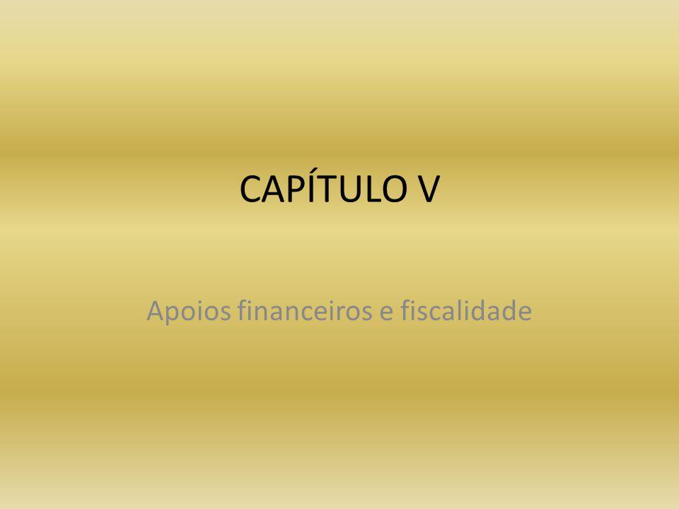 Apoios financeiros e fiscalidade